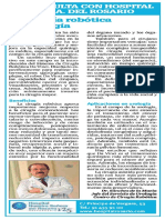 Cirugía Robótica de mano del Dr. Sánchez de la Muela.