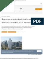 Il Comportamento Sismico Del Curtain Wall Intervista a Guido Lori Di Permasteel