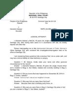 Final Affidavit