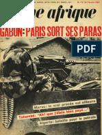Gabon - Couverture Jeune Afrique (n°0172)