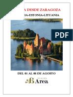 Viaje Desde Zaragoza Paises Balticos Letonia Estonia Lituania Mar Baltico