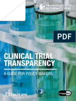Clinical Trial Transparency (TranspariMED 2017) 20171212