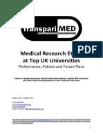 TranspariMED - Medical Research Ethics at Top UK Universities (2017)
