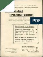 Programa Orchestra 1910
