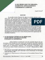 A Defesa Do Mercado No Brasil - O Pensamento Apologético de Roberto Campos