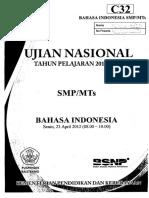 Naskah Soal UN Bahasa Indonesia SMP (Paket C32).pdf