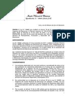 Resolución N.° 0064-2018-JNE