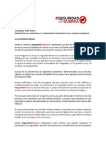 Carta al presidente Enrique Peña Nieto