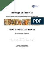 Borghesi Massimo Fede e Sapere in Hegel