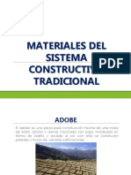 Materiales Sistema Constructivo Tradicional