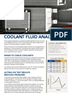 Coolant Fluid Analysis Solution Sheet