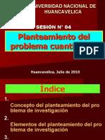 SESION N° 04 - PLANTEAMIENTO DEL PROBLEMA