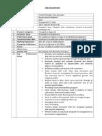 Job Description Sr Manager Key Accounts -YM-Apparels