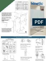 Guía de Instalación Kit para puerta de Baño corrediza Kinetic con cabezal redondo con toallero