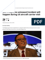 Gov't Hopes No Untoward Incident Will Happen During US Aircraft Carrier Visit » Manila Bulletin News