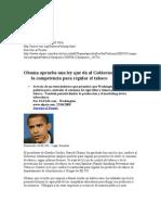 Obama aprueba una ley que da al Gobierno de EE UU la competencia para regular el tabaco