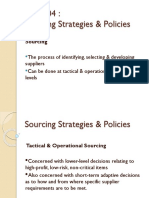 DPS 304 Sourcing Strategies & Policies