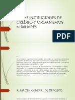 Las Instituciones de Credito y Organismos Auxiliares