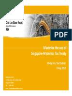Maximise Use of Tax Treaty Provision