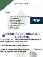 1- Hardware y Software