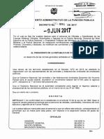 Decreto 984 Del 09 de Junio de 2017