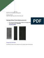 Energía Solar Fotovoltaica proyecto