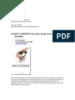 Jennifer GOBIERNO (novela y juego de la red mundial)