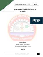 Manual de Operación de Relaves
