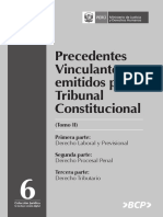 Precedentes Vinculantes Tribunal Constitucional Peruano Tomo II