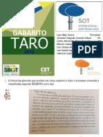 Taro Gabarito 2015