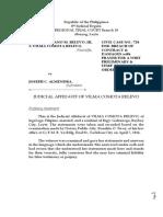 Judicial Affidavit Mrs. Relevo