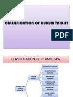 Classification of Hukum Taklifi-1