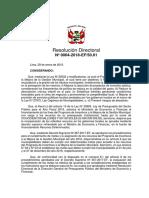 Resolución Directoral Nº 0004-2018-EF_50.01
