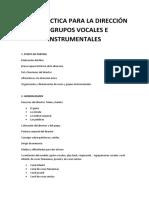 Guia Practica Para Al Direccion de Grupos Vocales y Orquestales