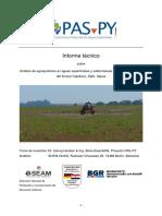 Resultados Del Estudio Residuos de Agroquimicos en Capiibary ITAPUA