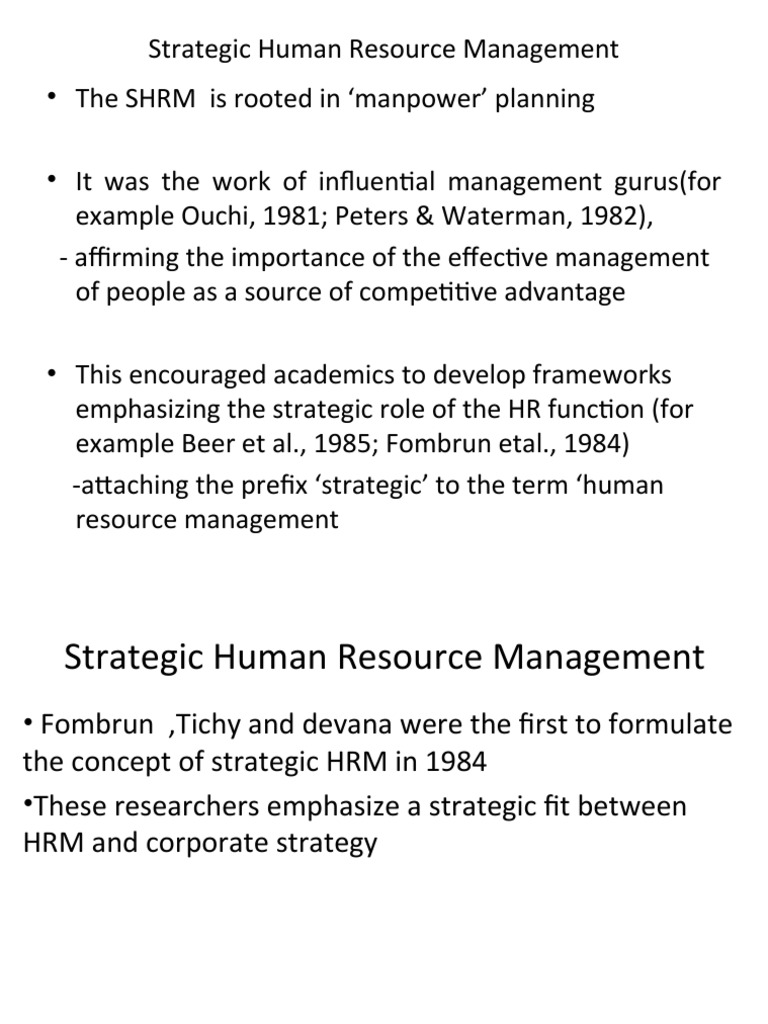 importance of shrm