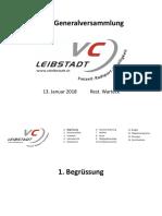 110. Generalversammlung VC Leibstadt