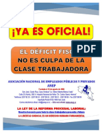 ANEP-Déficit Fiscal