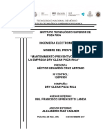 Mantenimiento Preventivo General de La Empresa Dry Clean Poza Rica