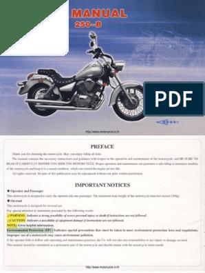 Lifan Lf250 B Owner Manual E Pdf Carburetor Throttle