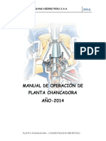 2.Manual de Operaciones de Chancadora (Borrador)