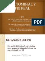 Pib Nominal y Pib Real