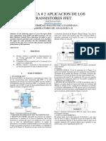 Aplicación de los transistores JFet