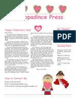 newsletter 2-16-18