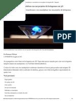 Como Transformar o Seu Telefone Em Um Projetor de Holograma 3D