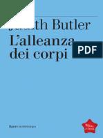 Judith Butler - L'Alleanza Dei Corpi. Note Per Una Teoria Performativa Dell'Azione Collettiva