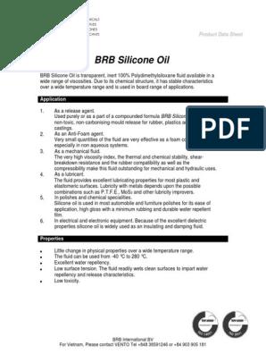 BRB Silicone Oil | Silicona | Ciencia de materiales