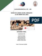Informe Del Sismo de Lomas Arequipa
