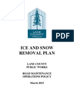Lane County Ice and Snow Plan