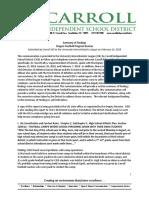 Carroll ISD review of football program